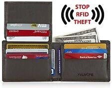 KALMORE Mens RFID Blocking Extra Capacity Multi-Card Genuine Leather Wallet