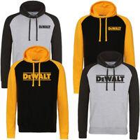 DEWALT Black / Grey Logo HOODIE Hoody Top Sizes S - 2XL Power Tool Work Wear