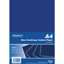 STEPHENS A4 CARBON PAPER BLUE - PACK 10 SHEETS