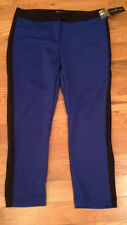 NWT Metaphor Cobalt Blue / Black PONTE Pants Womens 8P 8 Petite