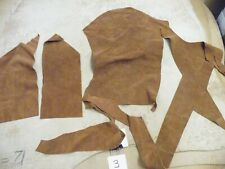 SUEDE DOUBLE SIDED TAN VERY SOFT  3 PIECES OFF CUTS