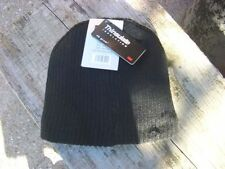 NEW MENS Black Thinsulate BEANIE HAT ONE SIZE