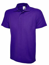 Boys & Girls Polo Shirt Kids Uniform School PE Club Top Poloshirt Cotton Purple Child 2 Years Non Applicable