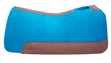"""7/8""""TURQUOISE 30""""x30"""" Horse Contour Wool Felt Saddle Pad, 5 Star Equine Products"""