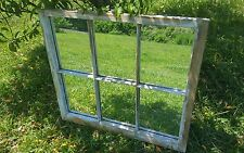 VINTAGE SASH ANTIQUE WOOD WINDOW PICTURE FRAME PINTEREST MIRRORS PANES 32x28