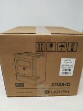 Lathem Heavy Duty Maintenance Free Thermal Print Time Clock 2100hd Black