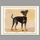 6 Manchester Terrier Dog Blank Art Note Greeting Cards