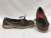 SPERRY TOP SIDER Womens Intrepid 9773599 2 Eye Brown Boat Shoes Size 7M