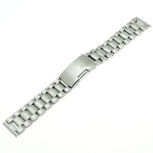Stainless Steel Strap Metal Bracelet Watch Band Solid Links Straight End 14~26mm