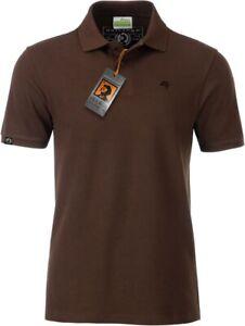 JAN 8010 Bio Baumwolle Basic Polo Shirt Männer Organic Herren, COMPANIEER Braun