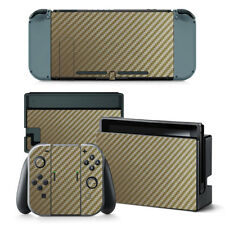 Gold Carbon - Nintendo Switch Protective Skin 4 Pc Sticker Set