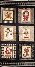 "Christmas Santa Elf Mrs Claus Cotton Fabric RJR 2319 Holly Jolly 24""X44"" Panel"