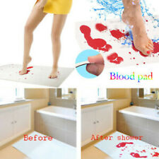 Blood Bath Mat: Color changing bloody mat turns red when wet 27x16in (70x42cm)