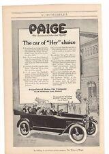 1916 Paige Detroit Motor Car Company Advertisement