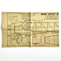 AeroModeller UK Jul 1964 BUHL 'SPORT AIRSEDAN' Airplane Scale Model Plan