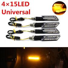 4Pcs 15LED Amber Motorcycle Turn Signal Lights Indicator Blinker Brake Tail Lamp