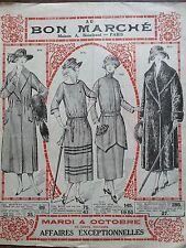 """CATALOGUE MODE """" AU BON MARCHE """" 1927 AFFAIRES EXCEPTIONNELLES"""