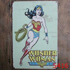 Metal Tin Sign wonder woman Bar Pub Home Vintage Retro Poster Cafe ART