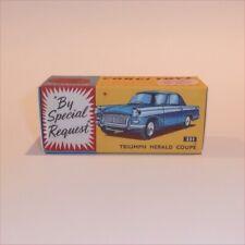 Corgi Toys  231 Triumph Herald Sedan Blue empty Repro Box