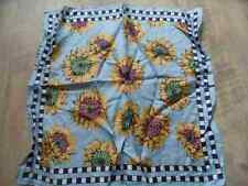 kleines Seidentuch m. Sonnenblumen hellblau TOP SK717