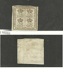 Brunswick (Germany), Postage Stamp, #12 Mint Hinged, 1857