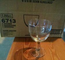 Libbey clear glass goblets, 13 3/4oz, new/never used/in box, 9 goblets