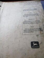 New listing John Deere 494, 494A, 495, 495A Corn Planter Parts Catalog 1969