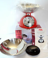 New ADE Luisa Red Kitchen Scale Mechanical Retro Dinner Gourment 2 Bowls Modern