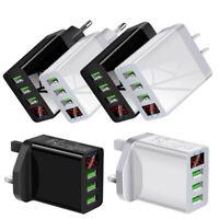 UK Plug 3 Multi-Port Fast Quick Charge QC3.0 USB Hub Mains Wall Charger Adapter