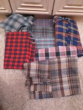 NEW PLAID FABRIC SEWING MATERIAL, LOT