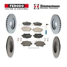 For Mercedes W117 CLA250 4Matic Front & Rear Brake Pads & Rotors &Sensor Kit OEM