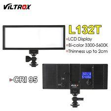 Viltrox L132T Camera LED Video Light Ultra Thin LCD Bi-Color & Dimmable for DSLR