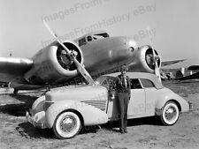 8x10 Print Amelia Earhart Lockheed Electra Yellow Cord Automobile 1936 #AE53