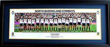 New 2015 North Queensland Cowboys Premiers Panoramic Memorabilia Framed