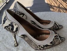Just Cavalli Shoes, BNWT, Snake Skin, Size 9, High Heels, Peep Toe, RRP $1099