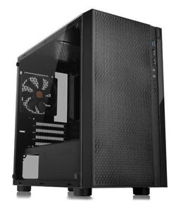 Thermaltake CA-1J4-00S1WN-01 Versa H18 Tempered Glass Edition Micro Case