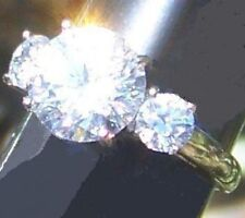 Platinum/Steel Alloy Ideal Cut 4.79 Carat Simulated Moissanite Ring_Size 5 & 1/2