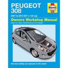 PEUGEOT 308 HAYNES MANUAL 2007-12  1.4 1.6 PETROL 1.6 DIESEL