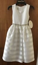 Girl's American Princess Formal Party Lined w/tulle Dress White Size 7 NWT $60.