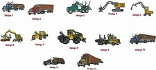 6 Shirts Embroidered Free 4Ur Forestry Logging Business Company Skidder Buncher