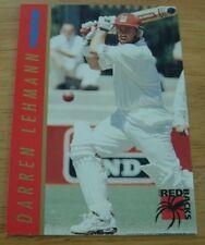 3 RARE 1995/96 MAZDA CRICKET CARDS SOUTH AUSTRALIAN REDBACKS DARREN LEHMANN