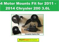 4 MOTOR MOUNTS FOR 2011-2015 CHRYSLER TOWN /& COUNTRY 3.6L AUTO ENGINE /& TRANS 34