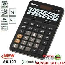 AUSSIE SELER CASIO DESK CALCULATOR 12 DIGIT AX12B AX12 AX-12B LARGE DISPLAY