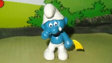 Smurfs Crying Smurf Yellow Hanky Handkerchief Rare Vintage Display Figure
