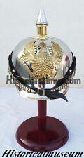 German 19th cent. Helmet - Pickelhaube - in Steel w/ steel & brass pimp XLKS505