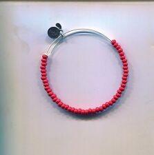 satin red bracelet Alex & Ani silver