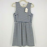 NEW Altar'd State Navy Blue & White Striped Fit Flare Dress - Size M Stretch