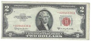 Series 1953 C $2 Red Seal Star Note
