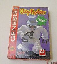 Clay Fighter Sega Genesis 1994 SOFT BOX VARIANT FACTORY SEALED ULTRA RARE