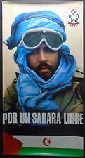 POR UN SAHARA LIBRE Political poster, Arab, Africa, Socialism, World History
